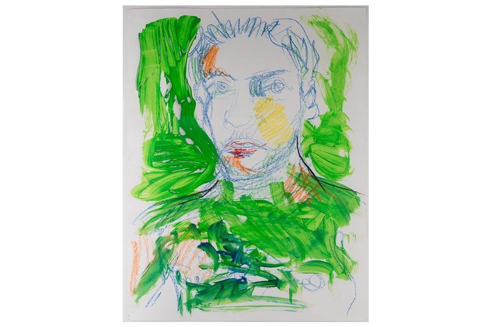 10-valter-santoni-und-fred-laur-MT-Galerie-Berlin-Selbstportrait-grün