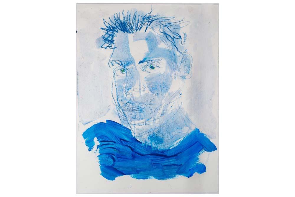 23-valter-santoni-und-fred-laur-MT-Galerie-Berlin-Selbstportrait-Blau