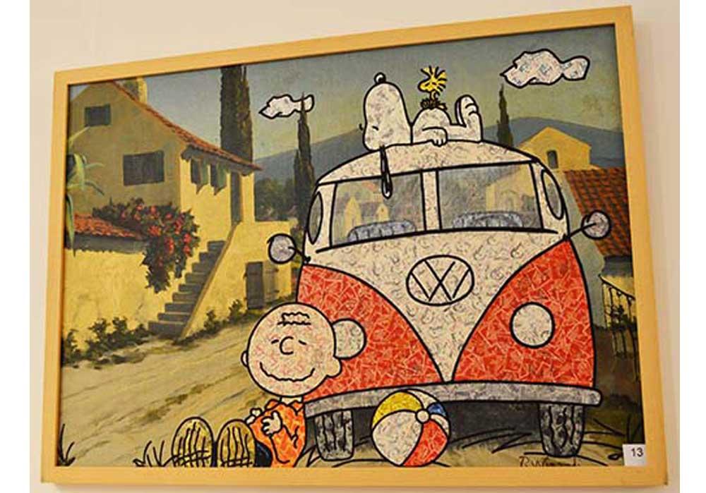 Peanuts + VW-Bus Stefan Merkt MT Galerie Berlin
