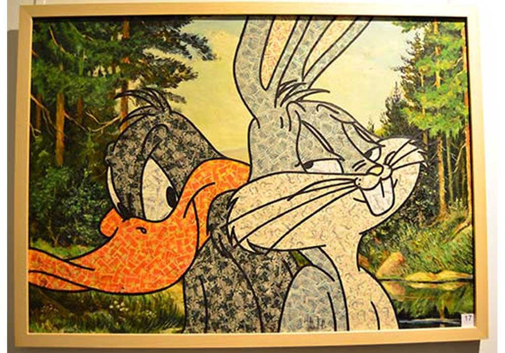 Duffy Duck + Bugs Bunny Stefan Merkt MT Galerie Berlin