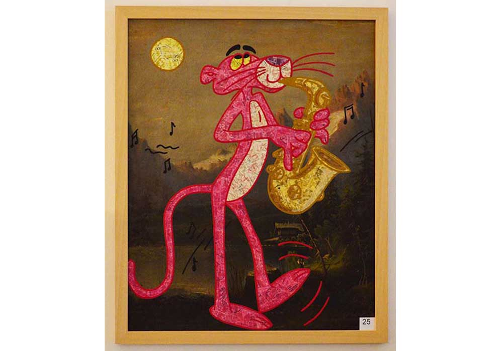 Rosaroter Panther Stefan Merkt MT Galerie Berlin