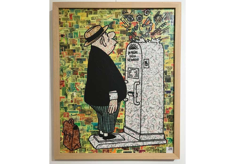nach Loriot: Prüfe Dein Stefan Merkt MT Galerie Berlin