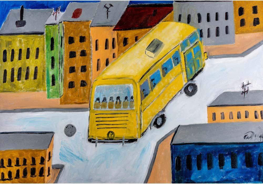 Busstop - Gustav von Hirschheydt - MT Galerie