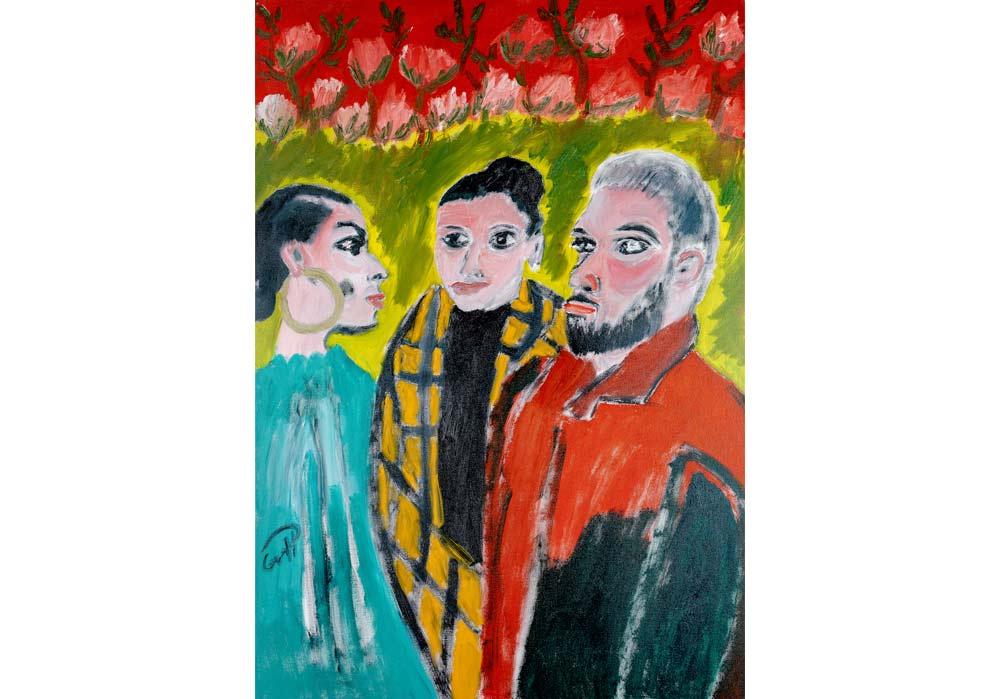 Constance, Daniela, Michael - Gustav von Hirschheydt - MT Galerie