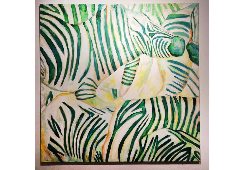 Zebras türkis - Britta Reinhardt - MT Galerie
