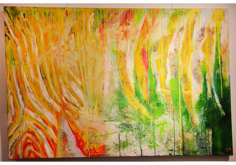 yellow Zebra - Britta Reinhardt - MT Galerie