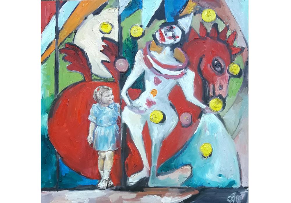 Milena Miller - Karussell Clown Jongleur - MT-Galerie