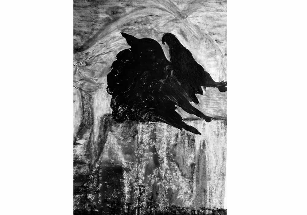 Segede Demissie - 1 mountain and birds 1 - MT-Galerie
