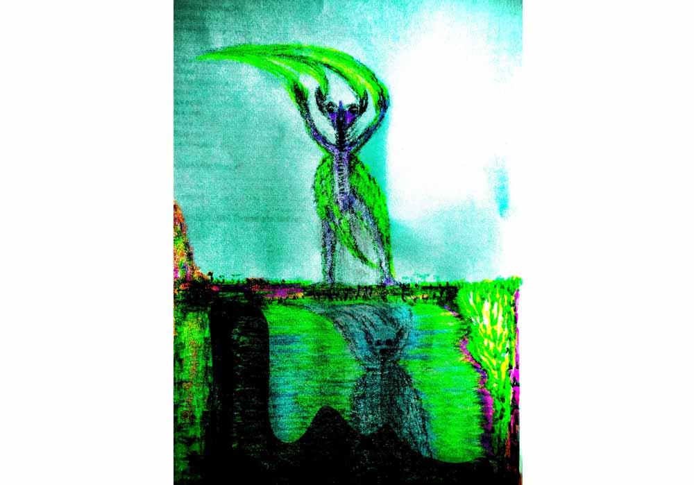 Segede Demissie - 4 alien in mirror - MT-Galerie