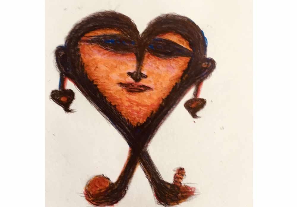 Segede Demissie - 5 heart - MT-Galerie