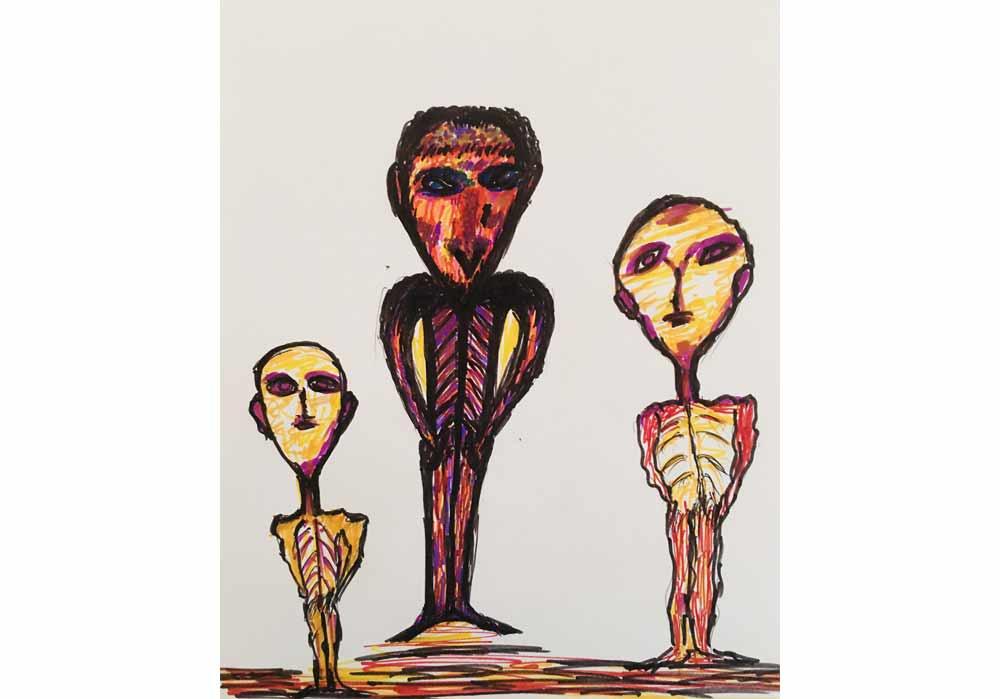 Segede Demissie - 6 different aliens - MT-Galerie